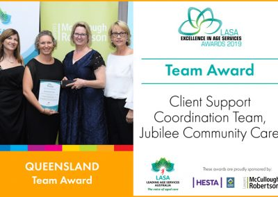 Team Award: Client Support Coordination Team, Jubilee Community Care